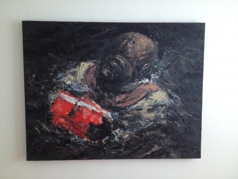 项楠 《黑水系列-黑匣子 NO.1》 141×109cm 布上油画 2010