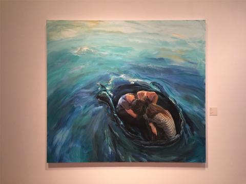 2014年作品《共渡》,富于波澜的漩涡,没有诺亚方舟,悲天悯人