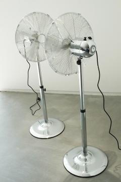 罗曼·西格纳 《两只风扇》 193 × 180 × 70cm 1998 柏林国家美术馆收藏