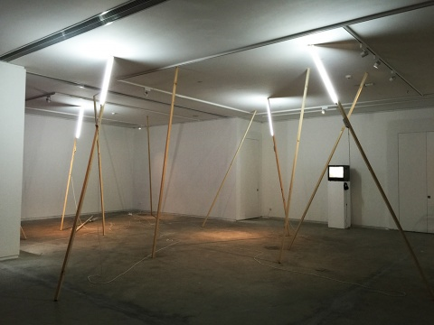 廖斐为空间量身定制的作品《移动No.3》 尺寸可变 2015