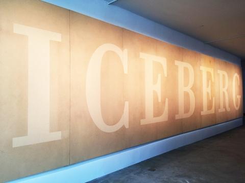 颜磊 将出现在卡塞尔文献展的出版物中的冰山图像呈现至展厅之中 2.4 × 10.8m 木板