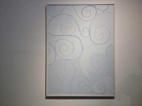 季大纯 《蓝色螺旋形》 150×110cm 综合材料 2004