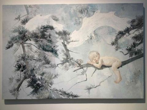 李超 《哪吒》 140×180cm 布面油画 2014冷静戏谑的旁观者