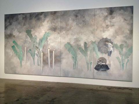 李超 《值雨》 300×600cm 布面油画 2014