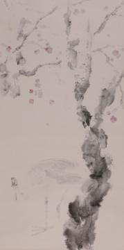 晁海 《故乡》 138x69cm 纸本设色