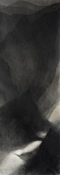 沈勤 《远山》138x48.5cm 纸本水墨2015