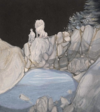 党震 《夜曲之二》 143×127.5cm 纸本设色 2015