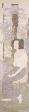张见 《悬浮的记忆》 190x54cm 绢本设色 2001年
