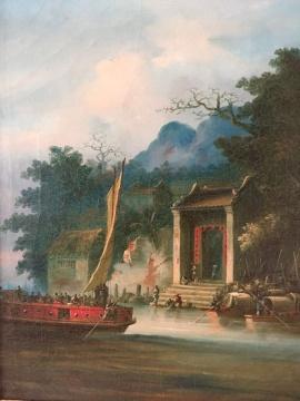 通过一幅幅油画,南章画室记载下19世纪中国南方的水乡美景,让我们领略