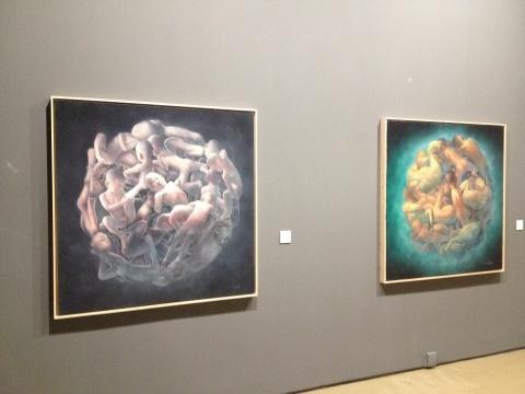 刘辉 《星球6》、《星球8》 130×130cm×2 布面油画 2011