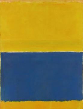 马克•罗斯科于1954年创作的抽象绘画《Untitled(Yellow and Blue)》