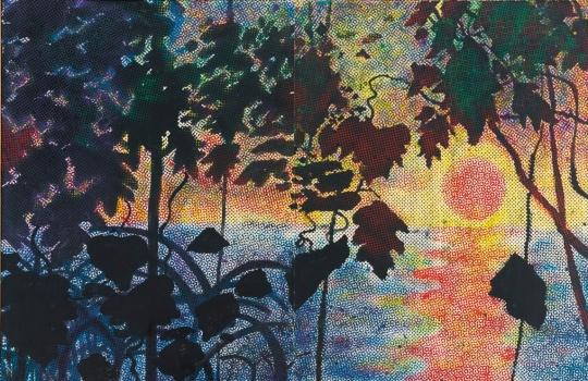 西格玛尔•珀尔克于1067年创作的绘画《Dschungel(Jungle)》