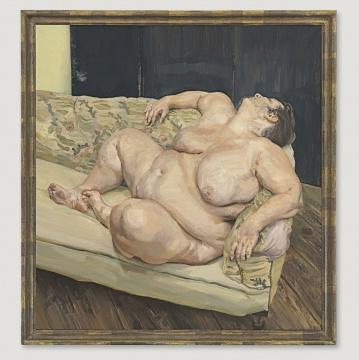 卢西安· 佛洛依德1994年的油画作品《Benefits Supervisor Resting》