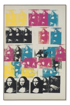 安迪·沃霍尔德1963年创作的布面丝网画《Colored Mona Lisa》