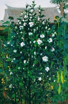 吴冠中 《木槿》120×80cm 布面油画 1975 估价待询