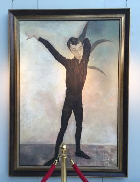 毛焰 《记忆或者舞蹈的黑色玫瑰》230×150cm 布面油画 1996 估价:RMB 5,000,000-7,000,000