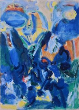 首次上拍保利的吴大羽作品《无题-19》 54×39cm 布面油画 估价:RMB 6,500,000-7,500,000