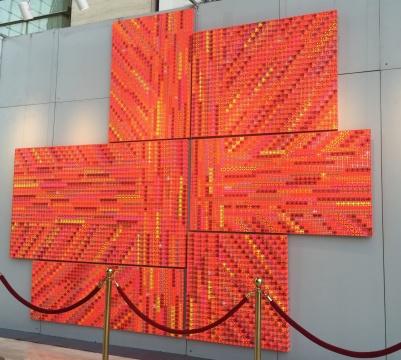 丁乙 《十示之六》 150×110cm,120×160cm,140×250cm,100×190cm,70×120cm,110×110cm 苏格兰格子亚克力 估价:RMB 6,800,000-8,000,000
