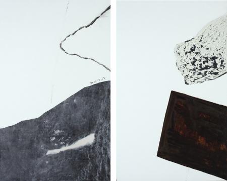 尚扬专题 《董其昌计划-7》 128×416cm 布面油画 2007 估价:RMB 2,800,000-3,800,000