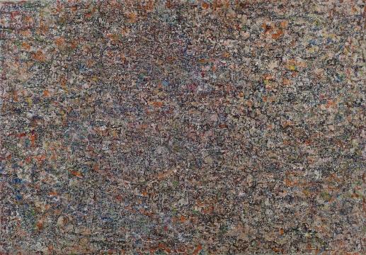 陈荫罴专题作品 《无题》182×126.3cm 布面油画拼贴 估价:RMB 720,000-900,000