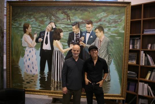 乌利·希克与赵半狄在《中国湖c》前