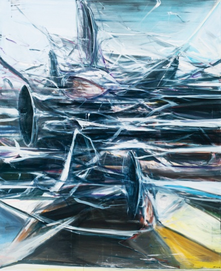 贾蔼力《无题》 220 x 180cm布面油画  2009  成交价:67.45万英镑 伦敦苏富比2014秋拍