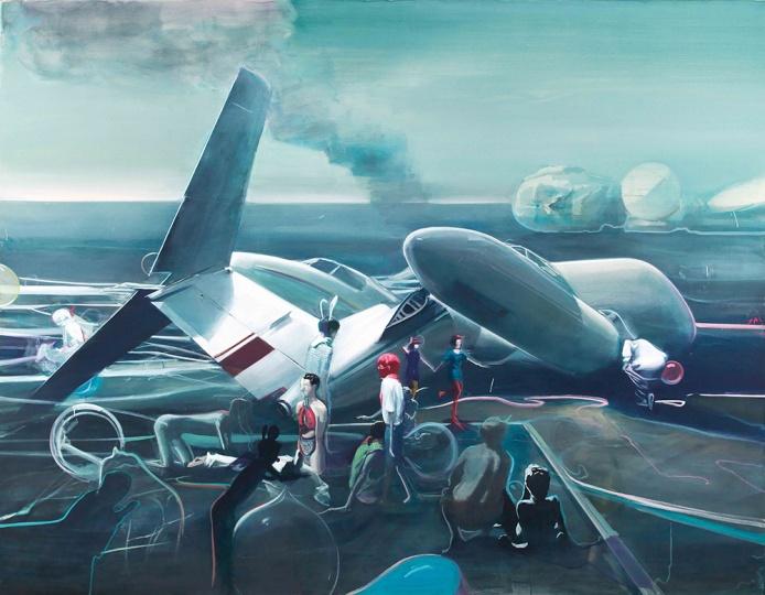 贾蔼力《1979.6.1》 209 x 269cm布面油画  2009  成交价:628万港元 香港佳士得2014春拍