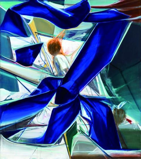 贾蔼力《年轻的行者》 170x 150cm布面油画  2010  成交价:460万元 中国嘉德2014春拍
