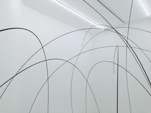 钢筋的不同弧度打造出奇幻的空间