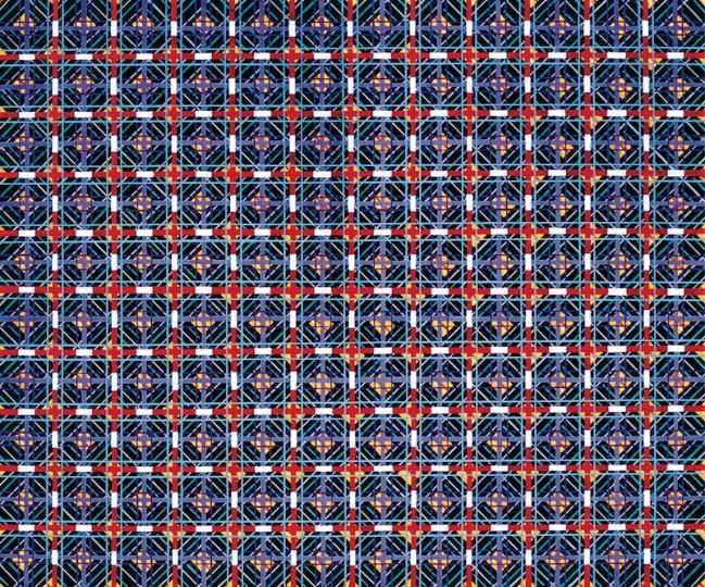 《十示89-7》100×120 cm布面丙烯1989