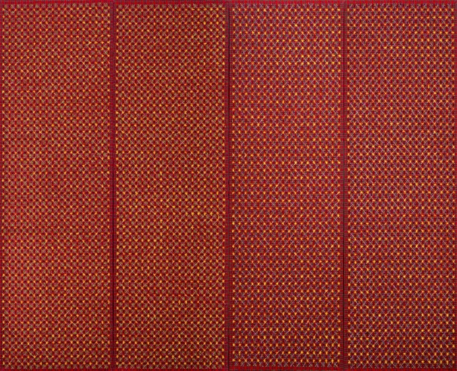 《十示97-34-37》260×80cm×4成品布上丙烯1997