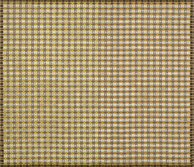 《十示98-7》140×160 cm成品布上丙烯1998