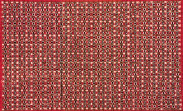 《十示2000-2》260×420cm成品布上丙烯 2000