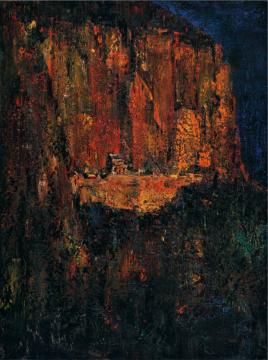 Lot 4150 尹朝阳《墨石崖照》 210×160cm 2011 布面油画 估价:120-150万元