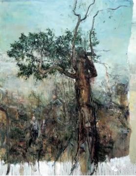 Lot 4152 屠宏涛《树下遇到荒木》 270×210cm 2011 布面油画 估价:130-180万元