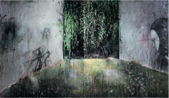 Lot 4185  韦嘉 《通往隐忧之地I》 220×190cm×2 2009 布面油画 估价:70-90万元