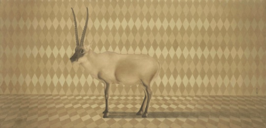 Lot 0254 秦艾 《软黄金》 64×122cm 2008 设色纸本 估价:35-50万元