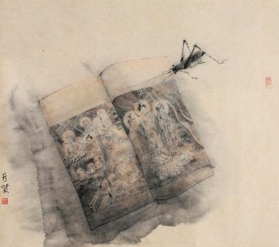 Lot 0263 章燕紫《读者之二》 88×2425px 设色纸本 2013 估价:8-20万元