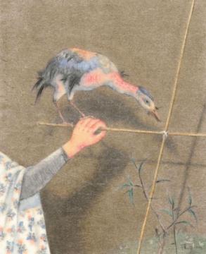 Lot 0264 曾健勇 《临江渡》 90×73cm 设色纸本 2015 估价:15-35万元