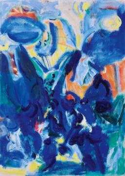 Lot 4022 吴大羽《无题—19》 54×39cm 布面油画裱于纸板 1980年代作 成交价:1035万元 由龙美术馆竞得 艺术家拍卖纪录第二位