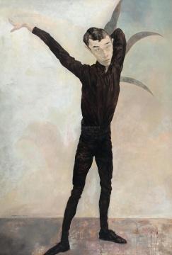 Lot 4036 毛焰《记忆或者舞蹈的黑色玫瑰》 230×150cm 1996 布面油画  成交价:1035万元 由资深藏家唐炬竞得