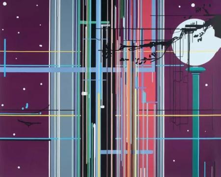 Lot 4170 刘韡《紫气系列》 180×220cm  布面油画  2008 成交价:230万元