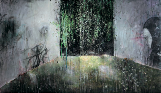 Lot 4185  韦嘉 《通往隐忧之地I》 220×190cm×2  布面油画 2009 成交价:86万元 由上海藏家竞得