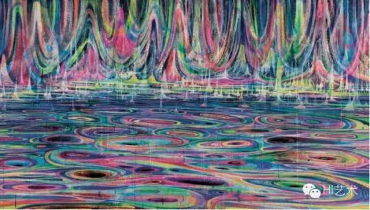 Lot 4159 黄宇兴《河流》 150×230cm 布面丙烯  2013 成交价:57.5万元 由龙美术馆竞得