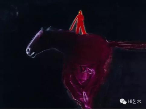 Lot 4158 马轲《马上封侯之五》 150×200cm 布面油画 2006 成交价:24万元 由灿艺术负责人李剑光竞得