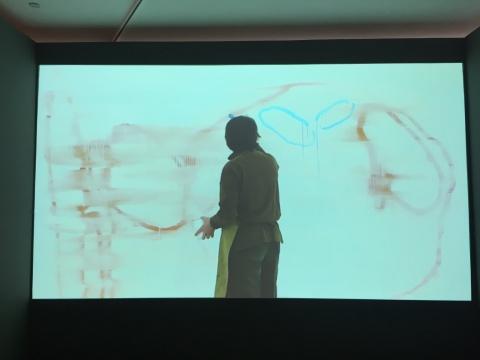 谭平创作过程的影像记录