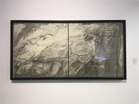 蔡小松 2013年绢本水墨《耶路-2》
