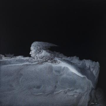 《山丘》150×150cm 布面丙烯 2014年