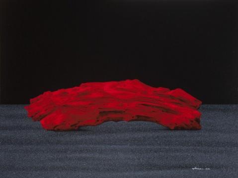 《红石》 60×80cm布面丙烯 2015年