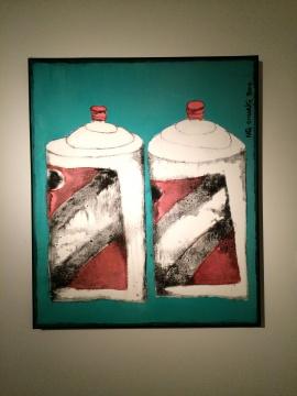 《两瓶茅台》 130×110cm 油画 2014